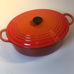 Le Creuset Dining - Le Creuset Dutch oven cast iron ombré orange pot